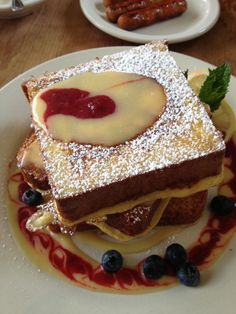 The presentation of this brioche French toast at M. Henrietta's is just incredible. #foodie