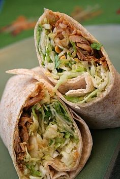 hoisin ginger pork wrap- made these last night and I am addicted!  The slaw alone could be a great meal.