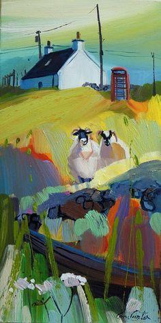 It's for Ewe - Pam Carter Abstract Landscape, Landscape Paintings, Watercolor Paintings, Abstract Art, L Eucalyptus, Naive Art, Fantastic Art, Animal Paintings, Beautiful Artwork