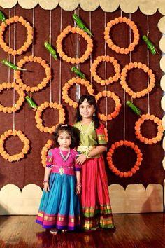 Housewarming Decorations, Diy Diwali Decorations, 1st Birthday Decorations, Floral Wedding Decorations, Backdrop Decorations, Festival Decorations, Flower Decorations, Mehendi Decor Ideas, Desi Wedding Decor