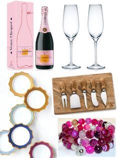 Top 5 Engagement Gifts Engagement Basket, Engagement Gifts, Wedding Engagement, Always A Bridesmaid, Pre Wedding Photoshoot, Engagement Inspiration, Champagne Flutes, Wedding Season, Gift Baskets