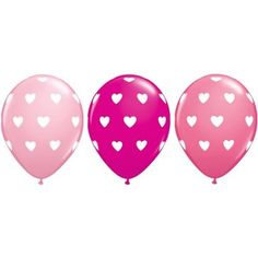 Package of 50 heart latex balloons $28