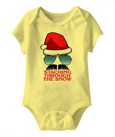 Banana ''Staching through the Snow' Bodysuit - Infant by American Classics on #zulily