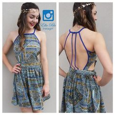 #Outfit #OOTD Outfit of the day! Beautiful backless dress, with a gold head piece! Only at Ella Blu El Paso Texas www.facebook.com/ellabluboutique #ellablu #itsallgoodep #chic #classy #sexy #fabulous