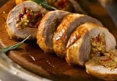 Sous-Vide Apple and Wild Mushroom Stuffed Pork Tenderloin - Sous-Vide Supreme Pork Tenderloin Recipes, Pork Recipes, Cooking Recipes, Pork Loin, Pork Tenderloin Sous Vide, Pork Tenderloins, Cookbook Recipes, Think Food, Love Food