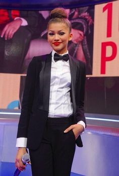 classic tux with bow tie by zendaya