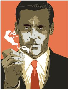 Matt Taylor Don #Draper for TimeOut #MadMen #TV #illustration #art