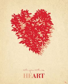 Items similar to All You Need is Heart - Fine Art Print - 8x10 on Etsy