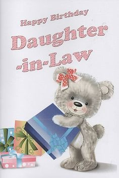 Birthday Cards, Female Relation Birthday Cards, Daughter in Law, Happy Birthday Daughter-in-Law,