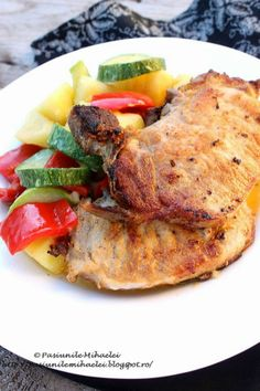 Pork chops with lemon and vegetables to skillet | Passions Mihaela