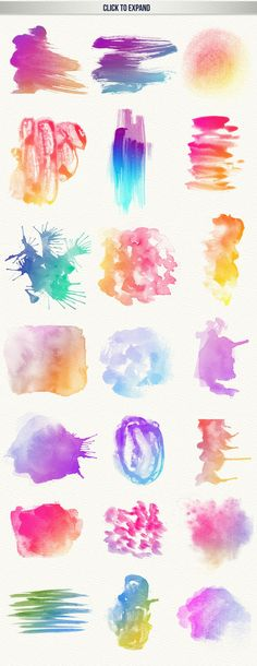 111 Watercolor Brushes: DIY with these gorgeous watercolor bushes. Click and see some inspiration!