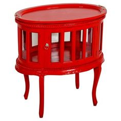 Check out this item at One Kings Lane! Tabitha Side Table, Red