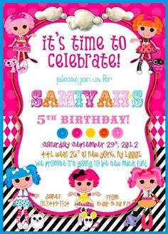 Custom lalaloopsy birthday invitation 5x7 digital file you print lalaloopsy wonderland birthday party ideas filmwisefo