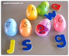 Easter Themed Upper and Lower Case Letter Matching
