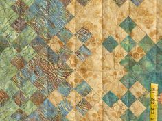 Golden Multicolor Blooming Nine Patch Quilt Photo 5