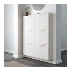 For top of stairwell and master closet || TRONES Shoe/storage cabinet - white - IKEA