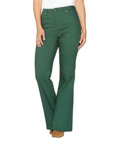 Pine Green Flare-Leg Jeans - Petite & Petite Plus