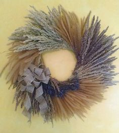BEAUTIFUL dried lavender flowers mixed with a variety of mid-western prairie grasses. Used indoors and out of the extreme light, this piece will not fade in color and last for many, many years!   eBay! $32.28