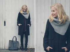 Joana ♡ - Liebeskind Coat, Lee Tasche, S.Oliver Stiefel, Pieces Schal, Tom Tailor Kleid - About me, about you.