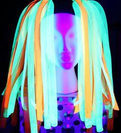 Cyber Falls  Cyrus  Neon Cyberlox Hair Falls  by PinkHaloDesigns, $55.00