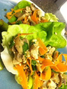 ... lettuce cups asian ground beef mushroom and broccoli slaw lettuce cups