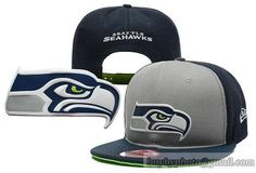 e30753f74 NFL Seattle Seahawks Snapback Hats Gray Navy 182 Seattle Seahawks Hat