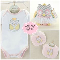 """Little Owl"" Baby Gift Set"