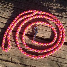 Paracord Runde Braid 4 Fuß Hundeleine von EpicCustomCreations