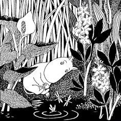 Moomin - Sleeping b/w - Moomin - Canvas Print & Canvas Art - Photowall