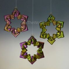 BAUBLES Warm Tones Black Iridized Fused Glass Snowflake by TheWoCo