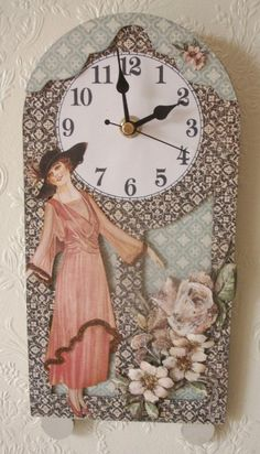 Beautiful A Ladies' Diary clock by @Maureen Cross. Stunning! #graphic45