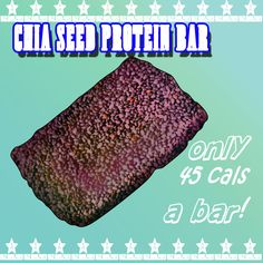 Mix 4 tablespoons of chia seed gel with a scoop of your favorite protein powder, some soaked quinoa, baking powder, and skip the stevia, and bake in the oven at 245 degrees for an hour on parchment paper. Flip them over, then bake for another 45 minutes, and cut into 4-6 pieces. 45 calories each and sugar free!