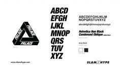 Palace also keeps it simple, using Helvetica and letting their iconography make them recognizable