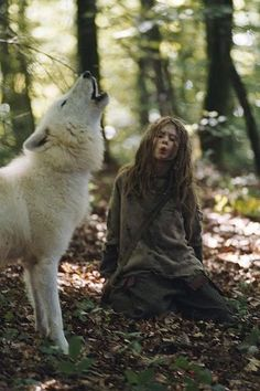 And so the dying Wolf took her in. The Wolf, as all Wolves do in their old age, could no longer return to his faunlike half human form, but was to remain a wolf for the remained of his life. But he still remembered how to raise a child. She Wolf, Wolf Girl, Wolf Spirit, Spirit Animal, Story Inspiration, Character Inspiration, Art Wolfe, Of Wolf And Man, Foto Fantasy