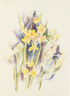 Charles Demuth (American, 1883–1935). Small Daffodils, ca. 1914. The Metropolitan Museum of Art, New York. Alfred Stieglitz Collection, 1949 (49.70.63) #spring