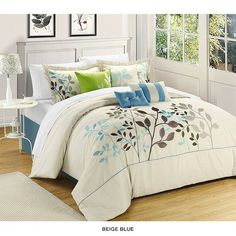 8-Piece Set: Chic Home Bouquet Comforter Collection at 53% Savings off Retail!