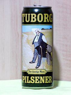 SALE! Empty Can Of German Beer TUBORG Pilsner Der durstige Mann. 500 ml. 1993
