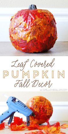 Leaf Covered Pumpkin