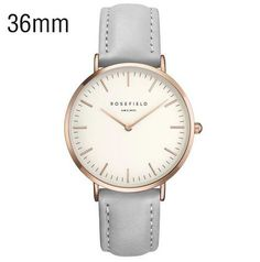 Caught between boho-chic and classic. The Rosefield Bowery grey leather rose gold watch combines a minimalist design with elegantly stitched leather straps. Bracelet Cuir, Bracelet Watch, Leather Watch Bands, Watch Brands, Stainless Steel Bracelet, Fashion Watches, Watches For Men, Women's Watches, Watches Online
