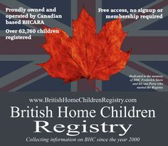 Proudly owned and housed in Canada by BHC descendants! No sign up, no registration and no third party site! Access if easy and free! Over 63,000 children have been entered!