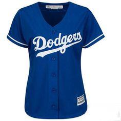 Women's L.A. Dodgers Majestic Royal Cool Base Jersey