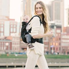 The Ergobaby ADAPT is the first to carry kids from infancy with a custom fit, no inserts needed.