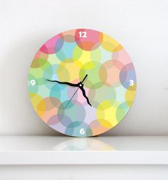 Funky & Colorful Wall Clock (I feel like everyone forgets they need one of these when outfitting a new house!)