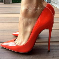 stunning red stilettos