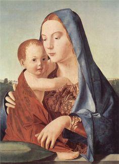 Madonna and Child (Salting Madonna) - Antonello da Messina - WikiPaintings.org