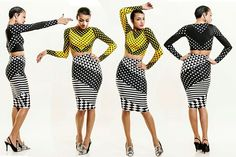 Patterns with style! Classy Chic, Your Style, Polka Dots, Bodycon Dress, Stripes, Womens Fashion, Fashion Glamour, Dresses, Diva