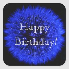 Happy Birthday Blue, Blue Birthday Parties, Happy Birthday Messages, Happy Birthday Images, Happy Birthday Greetings, Birthday Blessings, Birthday Party Invitations, Adulting, Custom Stickers