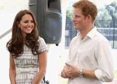 Pin for Later: 25 Times Kate Middleton and Prince Harry Got a Kick Out of Each Other  She was totally amused as Prince Harry spoke at a reception at Bacon's College in July 2012.