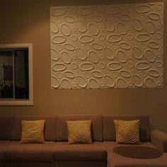 มุมมองติดแบบไม่เต็มผนัง iStein 3D WallArt ลายนี้พร้อมส่งค่ะ  ติดต่อ Line :signdd ----WallArt - Decorative Interior 3D Wall Panels - Textured Wall Decor Designs
