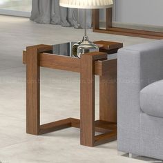 Mesa de Canto/Lateral Manhattan Canela - Rudnick Coffee Shop Furniture, Wood Furniture, Furniture Ideas, Coffe Table, Table Plans, Furnitures, Manhattan, Scrap, Tables